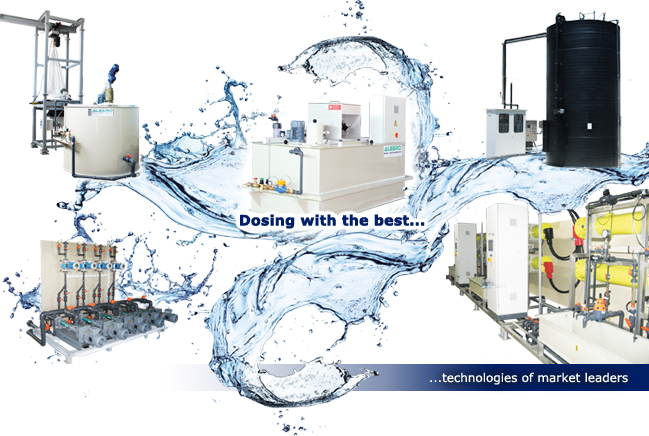 ALEBRO dosing stations and preparation units - Dosing with the best products of the market leaders
